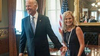 "Vice President Joe Biden Makes a Cameo in Parks and Recreation Episode ""Leslie vs. April"""