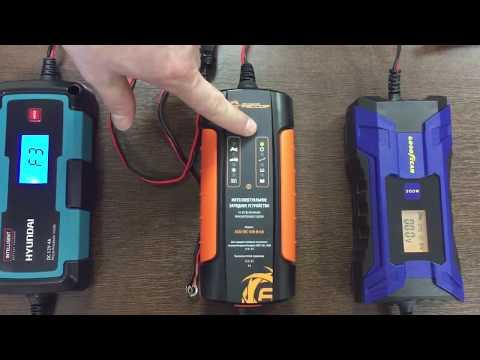Обзор зарядных устройств для автомобильных аккумуляторов Goodyear / Hyundai / Агрессор