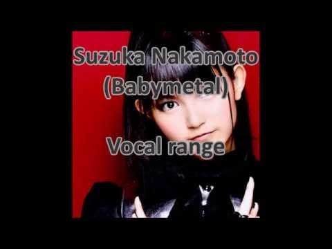 Suzuka Nakamoto (Babymetal) vocal range: G3 - G#5