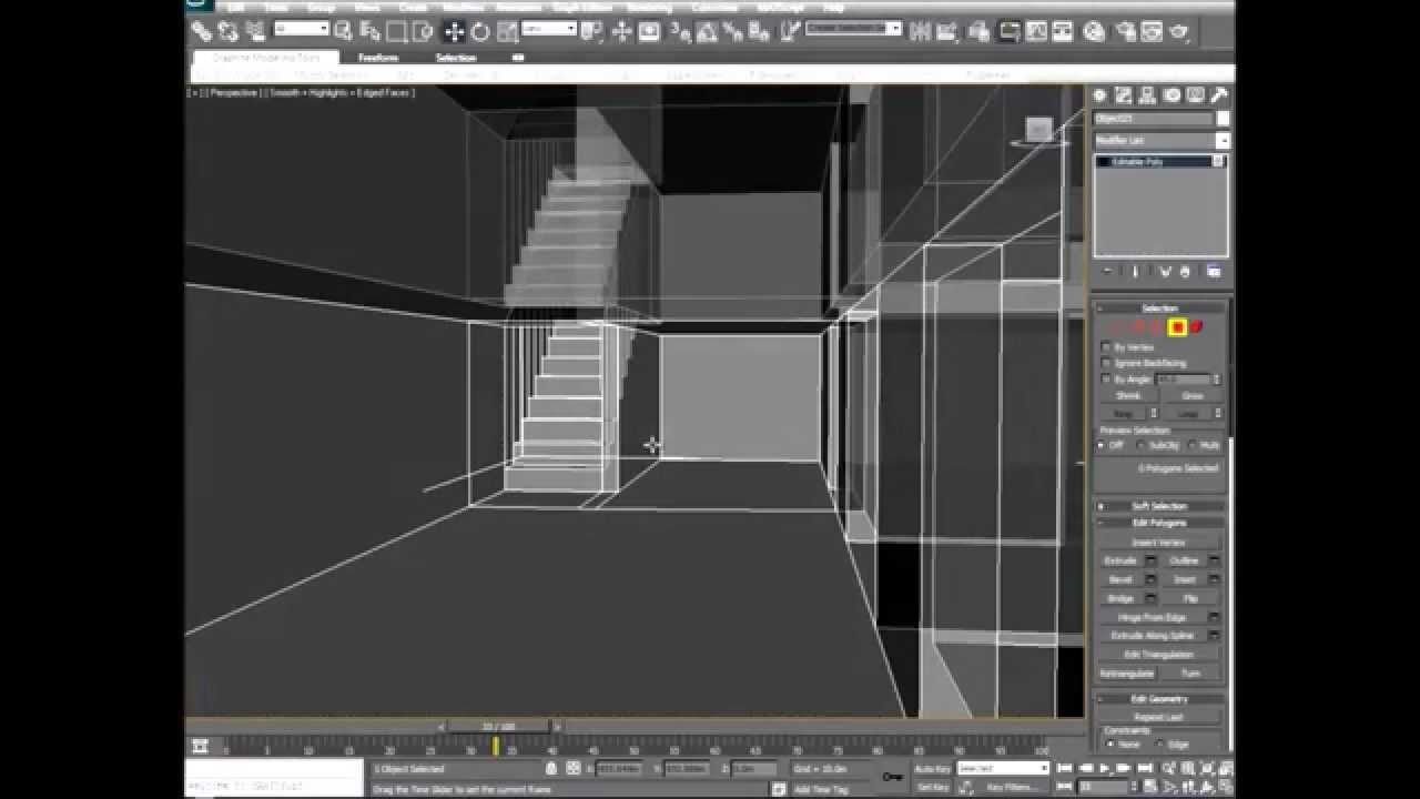 How to model in 3ds max 39 an interior exterior building for Exterior 3ds max model