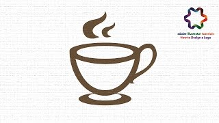 adobe illustrator - create a coffee logo design tutorial - make a flat design in adobe illustrator