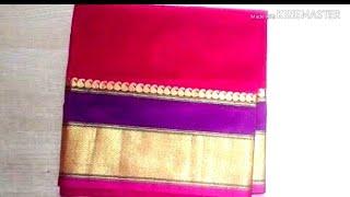 Paithani blouse back neck design cutting & stitching | patchwork blouse design