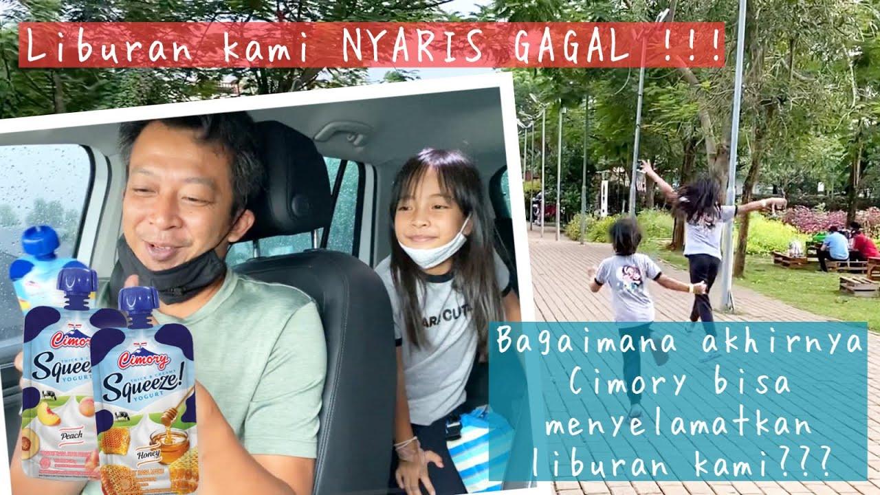 Family Time | Liburan terselamatkan berkat Cimory Yoghurt Squeeze | Taman Legenda - Scientia Park