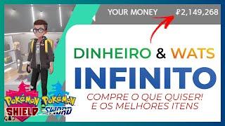 Dinheiro Infinito & Wats - Pokemon Sword & Shield #SwitchDicas