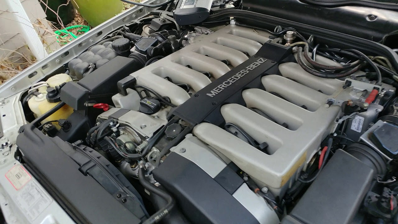 Mercedes SL600 vacuum leak repaired  Engine live reading