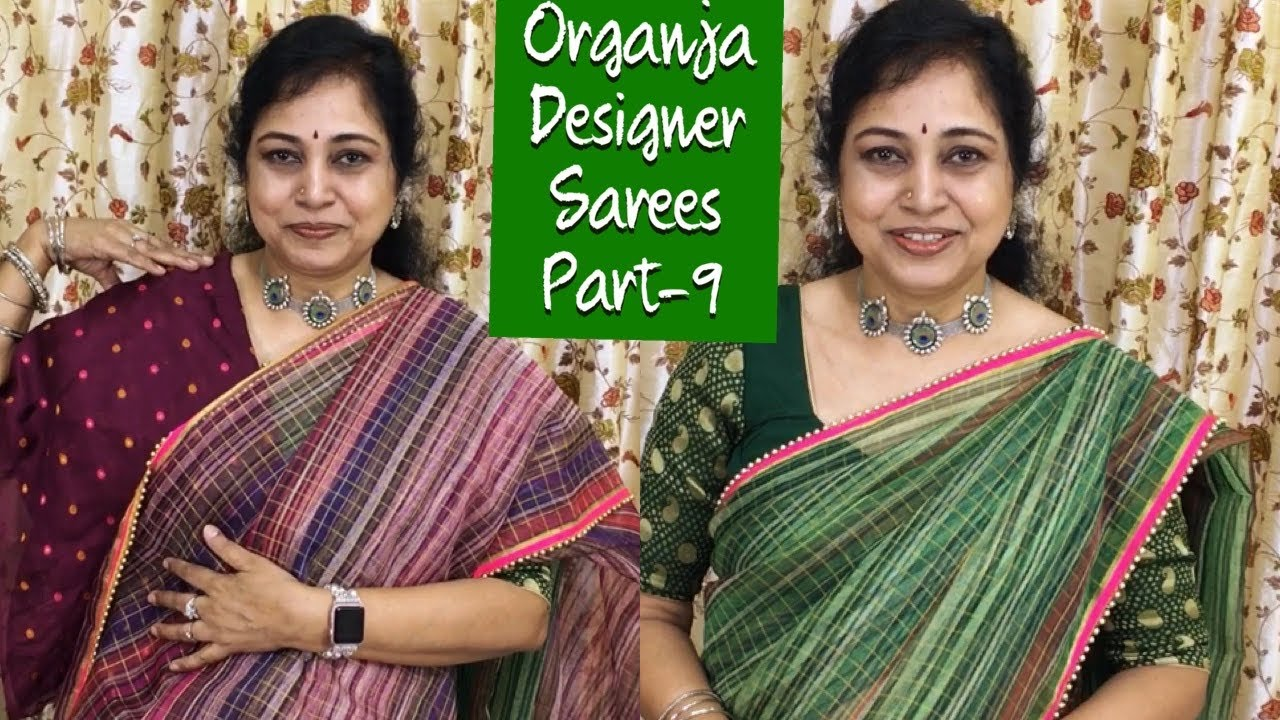 Organza designer sarees part-9,Surekha Selections,January 16, 2021