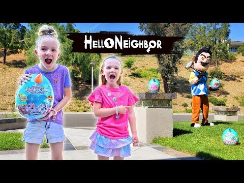 Trinity and Madison Create NEW Rainbocorns Series 2 With Tricking Hello Neighbor in Real Life!!!