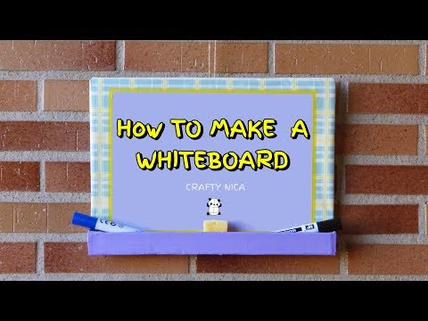 HOW TO MAKE A WHITEBOARD ❤ RECYCLED CRAFTS ❤️ BACK TO SCHOOL