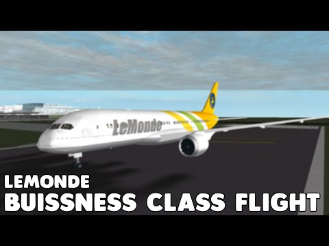 LeMonde 787-8 Business Class Flight | Roblox