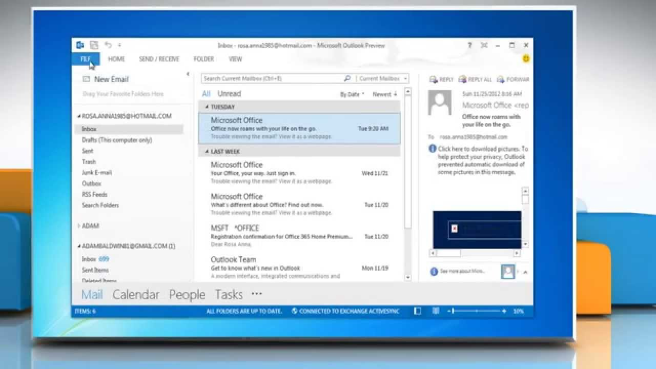 how to make outlook the default email