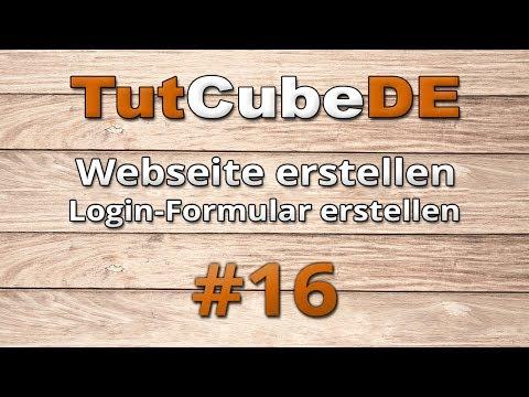 HTML5 & CSS3 - Webseite Erstellen (Login [Formular Erstellen]) #16 [TuTCube]