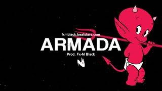 ARMADA - BASE DE RAP DOBLE TEMPO / INSTRUMENTAL DE RAP HIP HOP BEAT (Fx-M Black)