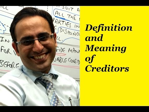 Basic Accounting Terms (Video-14) What are Creditors?
