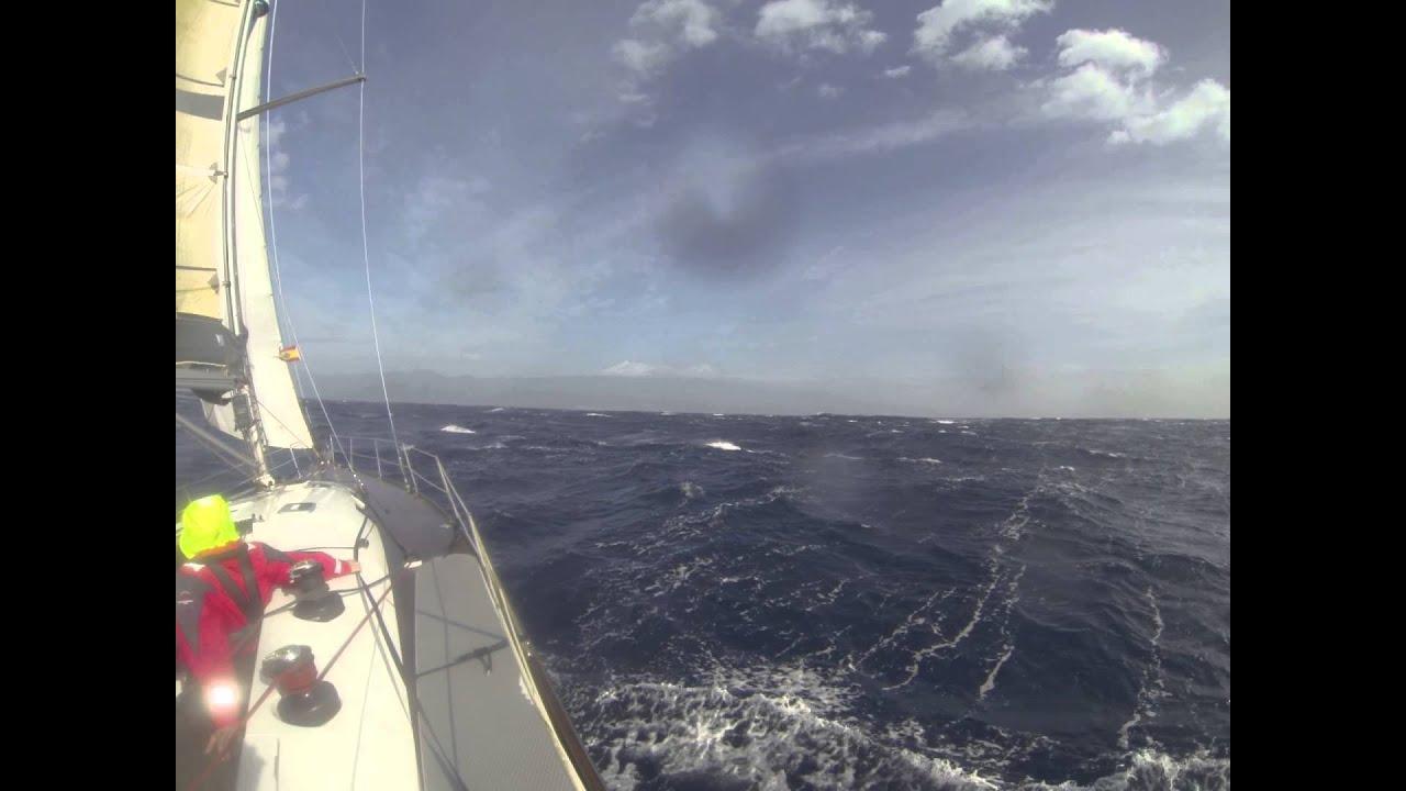 Sturmsegeln  Sturmsegeln zwischen La Gomera und Teneriffa - YouTube