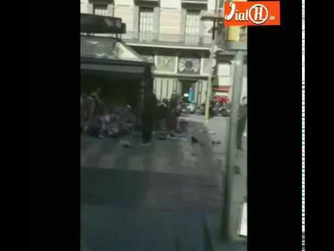 Barcelona Van Attack recorded in Mobile Camera