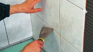 видео как положить плитку на кухне на стену