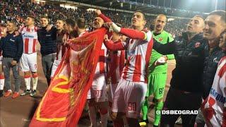 Delije i igraci nakon velike pobede | Crvena zvezda - Liverpool 2:0