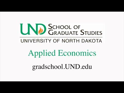 University of North Dakota Applied Economics
