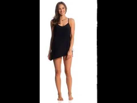 6ea784e0de41d Magicsuit by Miraclesuit Solid Brynn Swimdress   SwimOutlet.com - YouTube