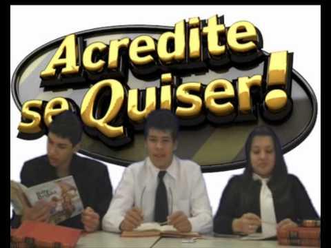 ACREDITE SE QUISER ! 2013