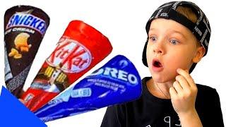 Андрей делает вкусное мороженое |Delicious ice creams!