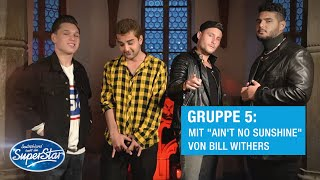 "Gruppe 05: Shada, Dominic, Jan B. & Starian mit ""Ain't No Sunshine"" von Bill Withers 