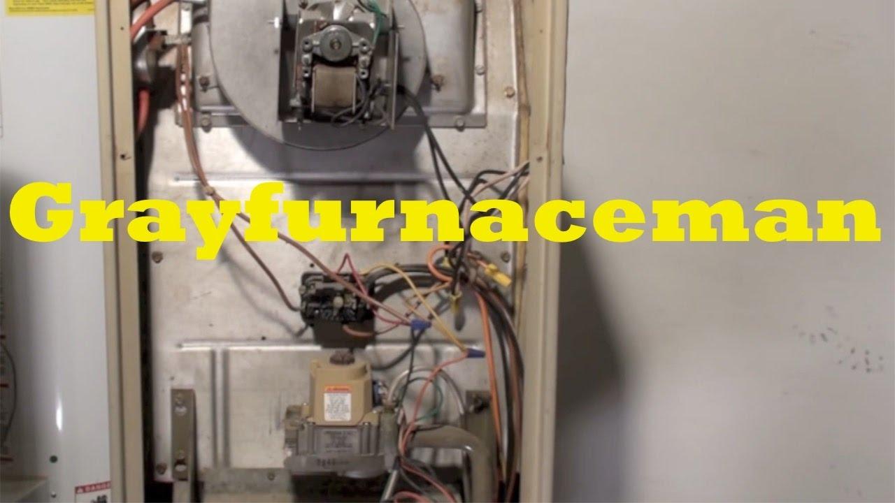 Lennox G16Q3 model gas furnace inducer troubleshoot - YouTube