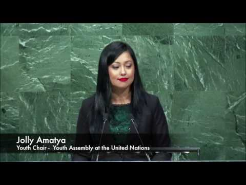 Jolly Amatya - Youth Chair at the Youth Assembly at the United Nations