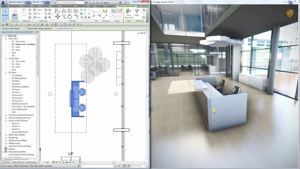 Enscape Plug In Revit Youtube