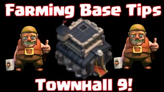 Clash Of Clans Townhall 9 Farming Base Defense Base Layout Tips