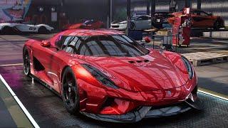 Need For Speed Heat Koenigsegg Regera customization acceleration game play
