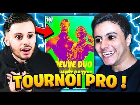 Mon premier 'TOURNOI' PRO en DUO avec NEXTAZ sur Fortnite !