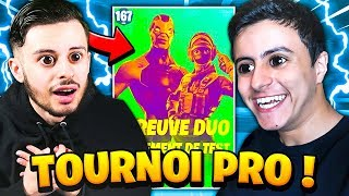 """Mon premier """"TOURNOI"""" PRO en DUO avec NEXTAZ sur Fortnite !"""