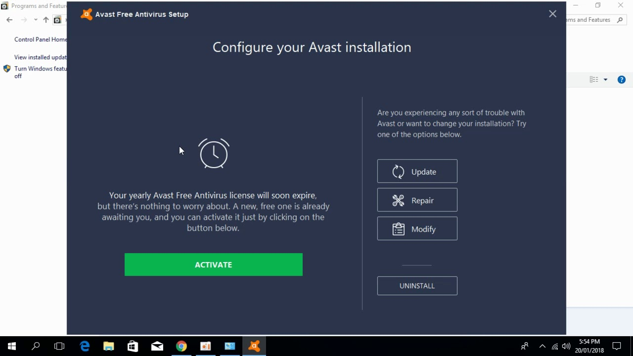 avast takes up too much space