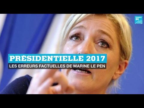 90''POLITIQUE - Présidentielle 2017 : les intox de Marine Le Pen
