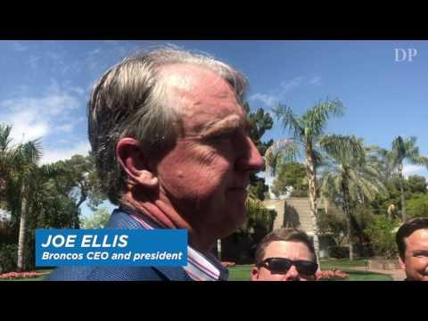 Joe Ellis on general manager John Elway