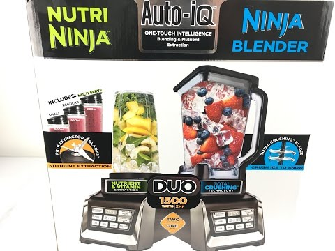 Nutri Ninja Duo Ninja Blender Auto IQ Unboxing and Test.