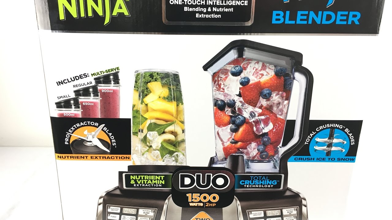 Nutri ninja blender system with auto iq technology - Nutri Ninja Duo Ninja Blender Auto Iq Unboxing And Test