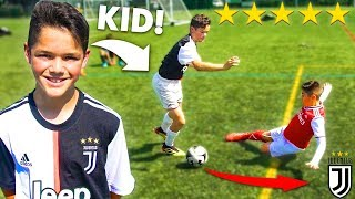 I Challenged KID Footballers To a PRO Football Competition 10 YEAR OLD RONALDO