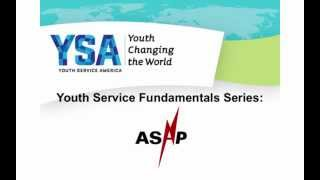 Youth Service Fundamentals Webinar -- ASAP