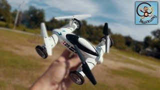 Про машинку вертолёт. Игрушка квадрокоптер с колёсами. МанкиТайм(, 2018-01-13T14:34:32.000Z)