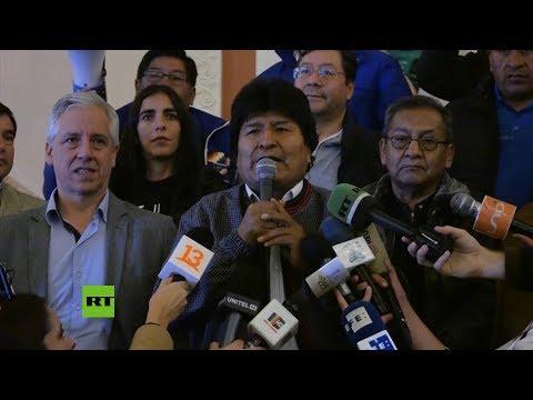 Evo Morales reclama la victoria en las elecciones bolivianas