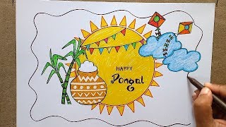 Pongal Drawing Easy