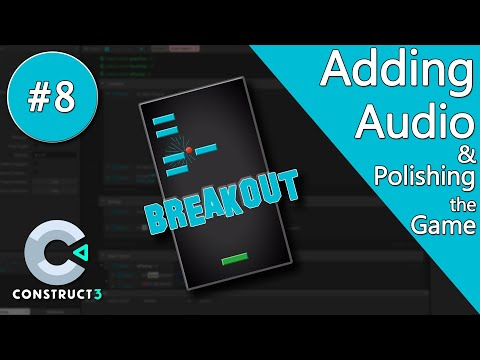 Construct 3 Tutorial part 8 - Brick Breaker / Breakout Game - Audio & Collision Boxes - no coding thumbnail
