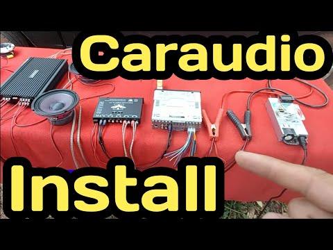 วิธีต่อเครื่องเสียงรถยนต์เล่นในบ้าน|how to caraudio|diy caraudio