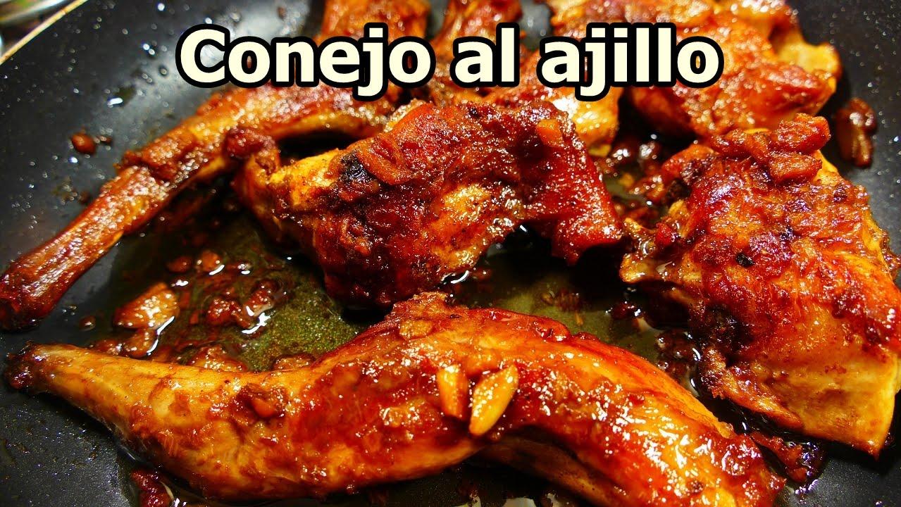 Conejo al ajillo frito recetas de cocina faciles rapidas for Comidas faciles de cocinar