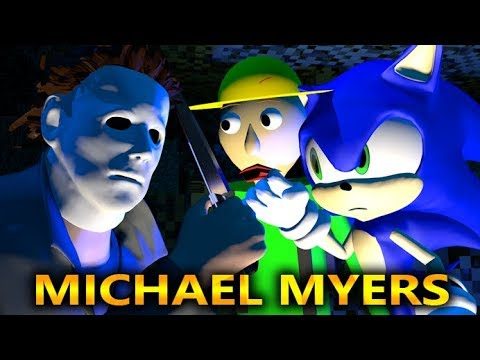 MICHAEL MYERS HALLOWEEN VS SONIC & BALDI FIELD TRIP CHALLENGE! (official) Minecraft Horror Animation thumbnail