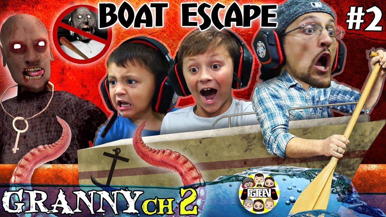 GRANNYS HOUSE but no GRANNY!  Boat Escape + Grandpa God Mode (FGTeeVs Chapter 2 Pt. Two)