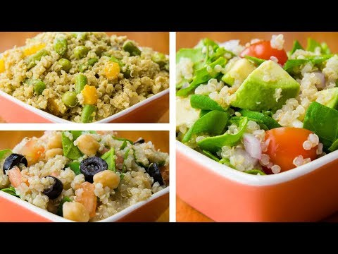 Egg White-colored Quinoa Bowl With Veggies