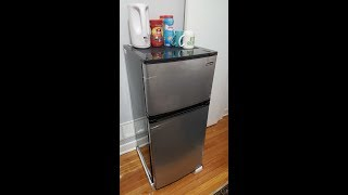 Magic Chef 4.3 cu. Ft. Two Door Refrigerator Unboxing and Walkthrough tour Review